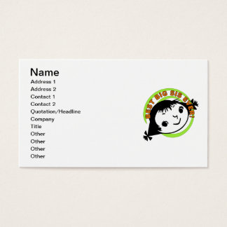 Retro Best Big Sister Ever Business Card