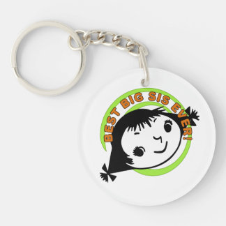 Retro Best Big Sister Ever Key Chains