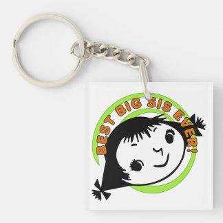 Retro Best Big Sister Ever Acrylic Key Chain