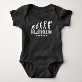Retro Biathlon Evolution Baby Bodysuit
