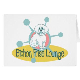 Retro Bichon Frise Lounge Card