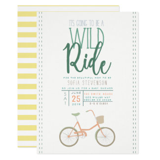 Retro Bicycle Baby Shower Invite