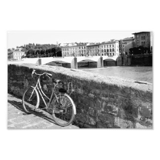 Retro Bicycle in the city of Florence, Italy Photograph