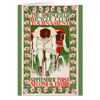 Retro Bicycle Poster 1895 Card