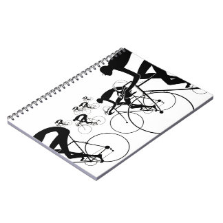 Retro Bicycle Silhouettes 1986 Notebooks