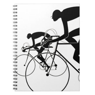 Retro Bicycle Silhouettes 2 1986 Spiral Note Books