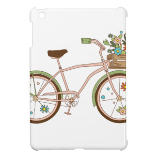 Retro bicycle with karzinkoy for flowers iPad mini case