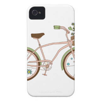 Retro bicycle with karzinkoy for flowers iPhone 4 covers