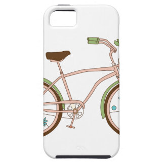 Retro bicycle with karzinkoy for flowers iPhone 5 cover