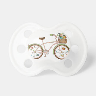 Retro bicycle with karzinkoy for flowers pacifier
