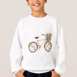 Retro bicycle with karzinkoy for flowers sweatshirt