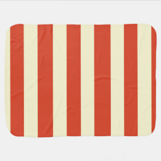 Retro Big Top Striped Baby Blanket