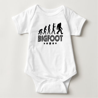 Retro Bigfoot Evolution Baby Bodysuit