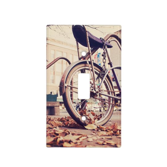 Retro bike light switch cover