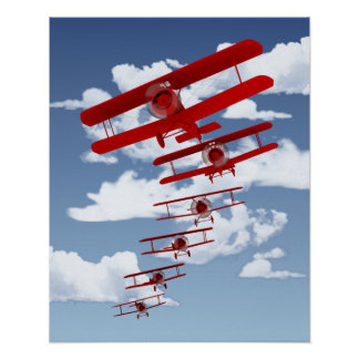 Retro Biplane Poster