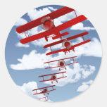 Retro Biplane Stickers