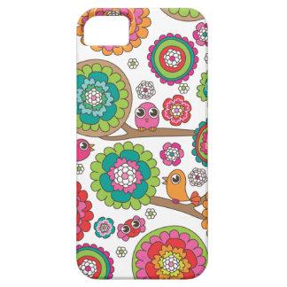 Retro bird pattern illustration iPhone 5 cases