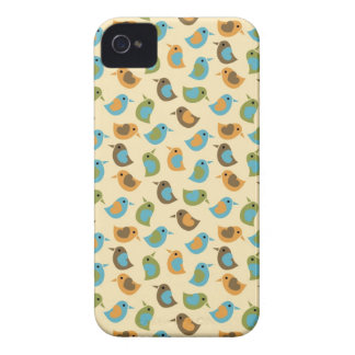 Retro Birds on Cream Case-Mate iPhone 4 Cases
