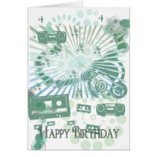 Retro Birthday Card - Modern Retro - Tapes Music