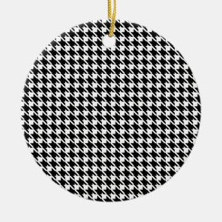 Retro black and white pattern ceramic ornament