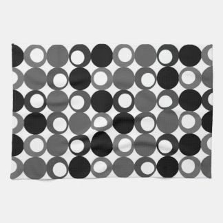 Retro Black and White Pattern Kitchen Towel