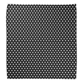 Retro black and white polka dot bandana
