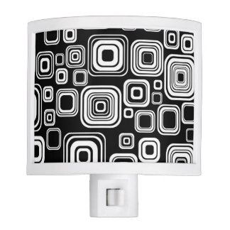 Retro black and white squares nite lights