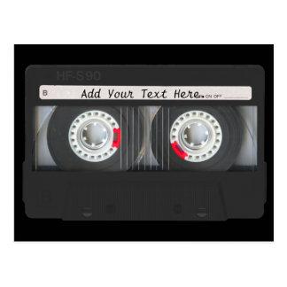 Retro Black Cassette Tape Post Card
