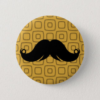 Retro Black Mustache 2 Inch Round Button