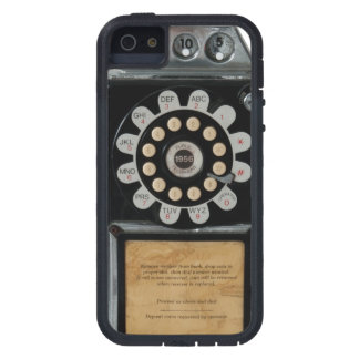 retro black pay phone case