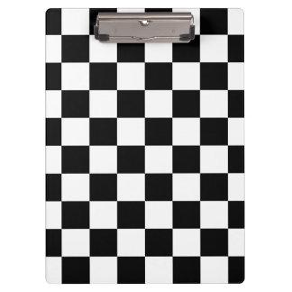 Retro Black/White Contrast Checkerboard Pattern Clipboards