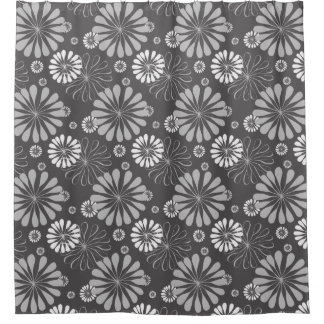 Retro Black White daisy Pattern