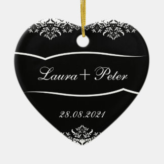 Retro Black White Thank You Wedding Ornament