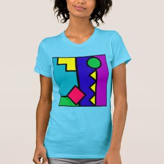 Rétro bloc de la couleur 80s tshirts