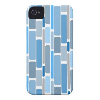 Retro Blocks Blue Grey iPhone 4 Case-Mate Cases