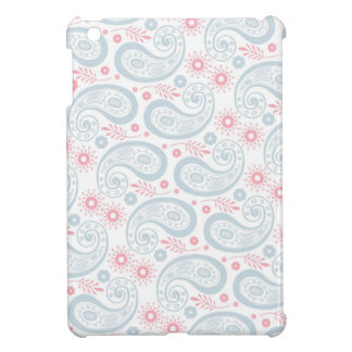Retro Blue and Pink Paisley Pattern iPad Mini Cases