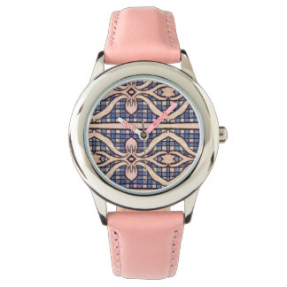 RETRO BLUE AND WHITE PAISLEY WATCHES