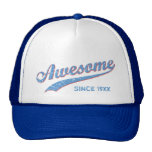 Retro Blue Awesome Since [Year] Hat