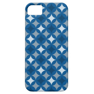 Retro Blue Circle Pattern iPhone 5 Covers