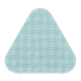 Retro Blue Gingham Checkered Pattern Background Bluetooth Speaker