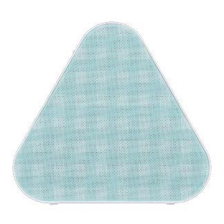 Retro Blue Gingham Checkered Pattern Background Speaker