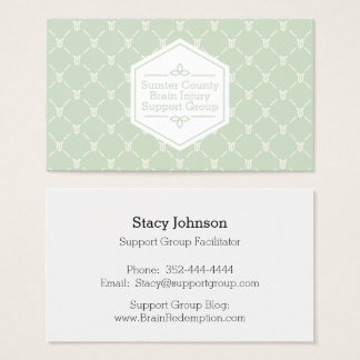 Retro Blue Green Floral Pattern Networking Card