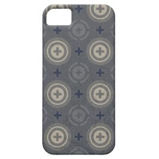 Retro Blue Grunge Polka Dot Design Case For The iPhone 5