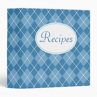 Retro Blue Kitchen Recipe Organizer Binder Gift