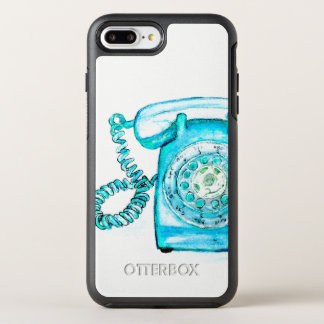 Retro Blue Rotary Telephone Vintage Phone Case
