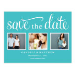 RETRO BLUE | SAVE THE DATE ANNOUNCEMENT POST CARDS