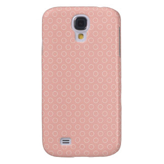 Retro Blush Pink Circles Pattern
