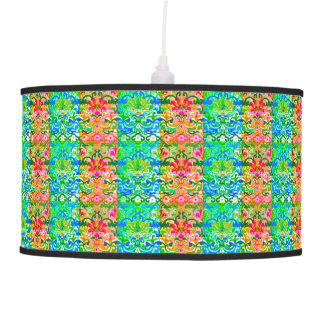 Retro Bohemian Stripes Hanging Pendant Lamp