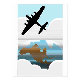 Retro Bomber Postcard