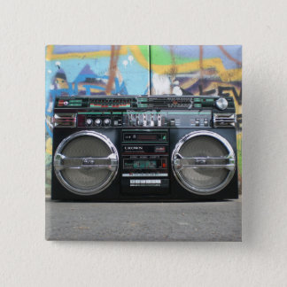 Retro Boom Box Radio Button